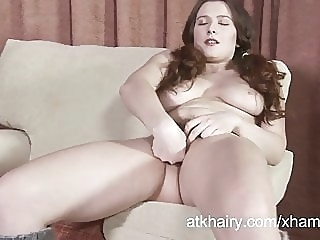 Lena Lake fingers her hairy pussy amateur spankwire brunette