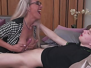 Smart mom teaching stupid son amateur spankwire blowjob