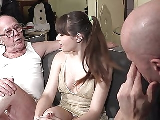 Grandpa watches granddaughter fucking blowjob spankwire brunette