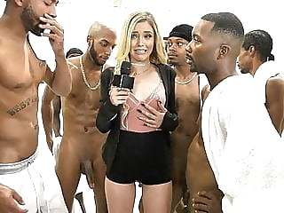 Kali Roses Sucks A Black Football Team blowjob spankwire cumshot