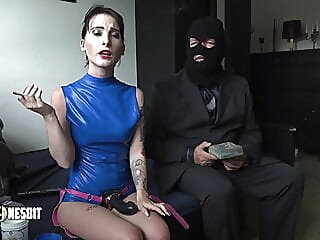 Smoking added to Pegging by Lou Nesbit sex toy spankwire hardcore