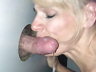Glory Hole Slut Gets the Cum blonde spankwire blowjob