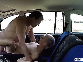 Older Hooker fucked in a car without rubber amateur spankwire public nudity
