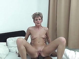 Unknown short-haired skinny granny interracial anal spankwire mature