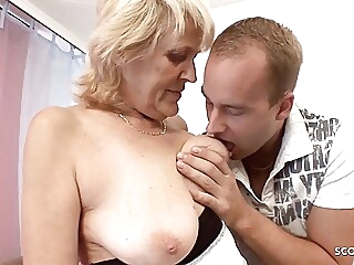 Grandson Seduces old Granny more Saggy Tits be incumbent on Taboo Fuck blonde spankwire hardcore
